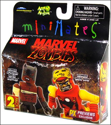 Marvel Minimates (Exclusives) Black Panther/Zombie Iron Man (Previews Exclusive) by Diamond Select