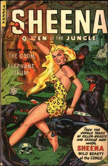 Sheena, Queen of the Jungle (1942) 18-A by Fiction House Magazines