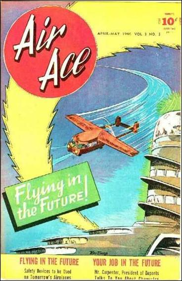 Air Ace (1945) 3-A by Street and Smith Publications