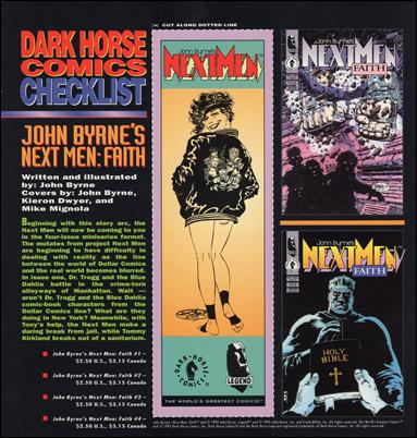 Dark Horse Comics Checklist (Promo) nn-7-A by Dark Horse