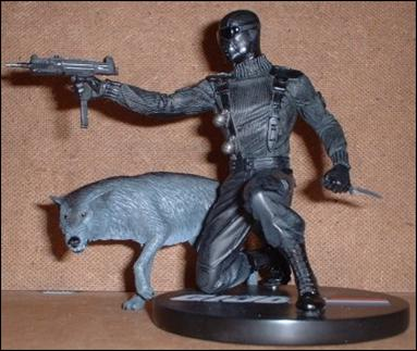 G.I. Joe Mini Statues Snake Eyes with Timber 1/852 by Palisades Toys