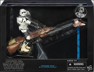 Star Wars: The Black Series (Deluxe) Speeder Bike with Biker Scout