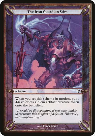 Magic the Gathering: Archenemy (Scheme Subset)22-A by Wizards of the Coast