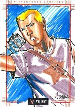 2013 Valiant Comics Preview Trading Card Set (Sketch Card Subset) JF-08-A