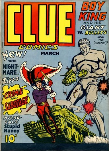 Clue Comics (1943) 3-A by Hillman