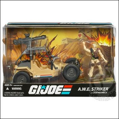 G.I. Joe 25th Anniversary Vehicles A.W.E. Striker with Leatherneck by Hasbro