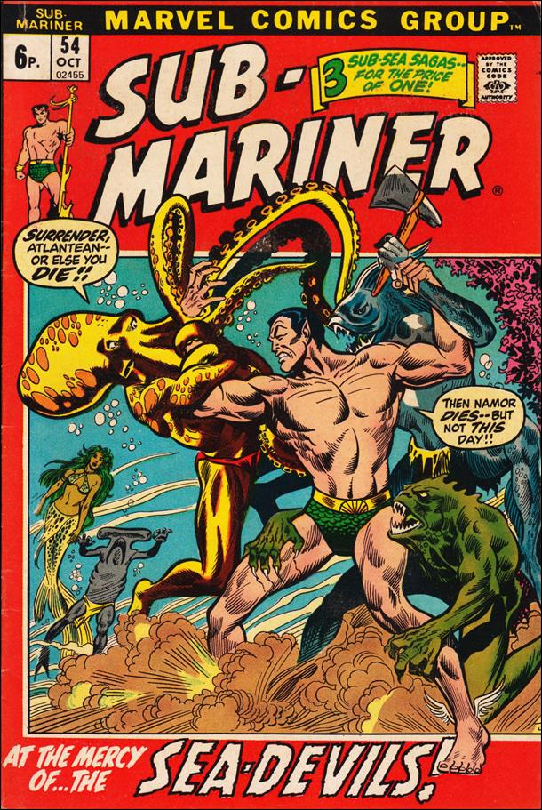 Sub-Mariner (1968) 54-B by Marvel