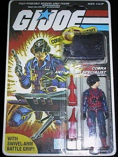 "G.I. Joe: A Real American Hero 3 3/4"" Basic Action Figures Scrap-Iron (Cobra Anti-Armor Specialist) by Hasbro"