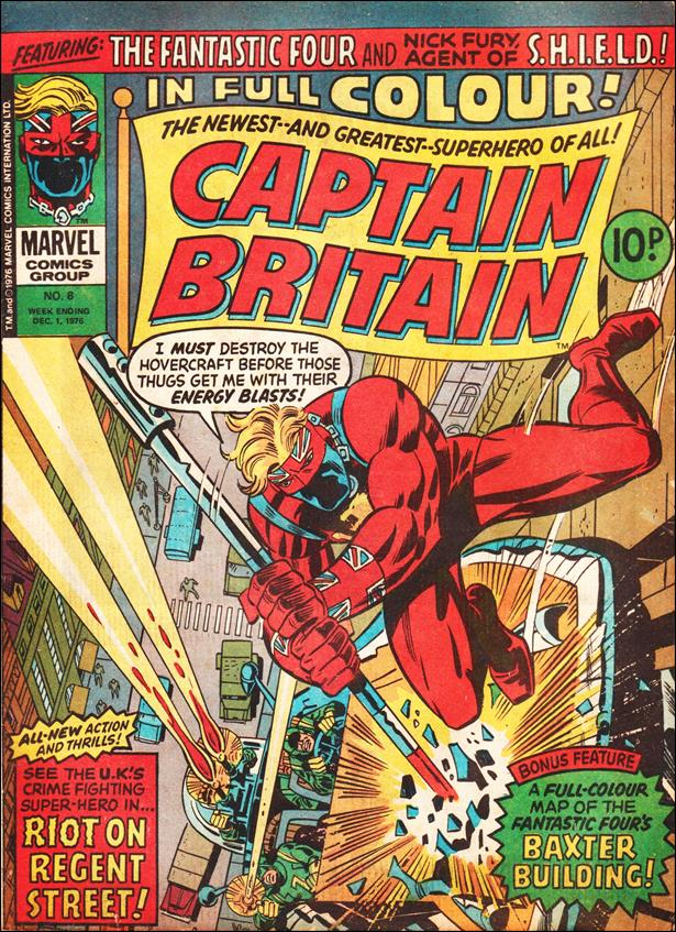 Captain Britain (UK) (1976) 8-A by Marvel UK