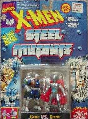 X-Men Steel Mutants (2-Packs) Cable vs Stryfe by Toy Biz