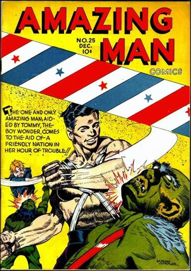 Amazing Man Comics 25-A by Centaur Publications Inc.