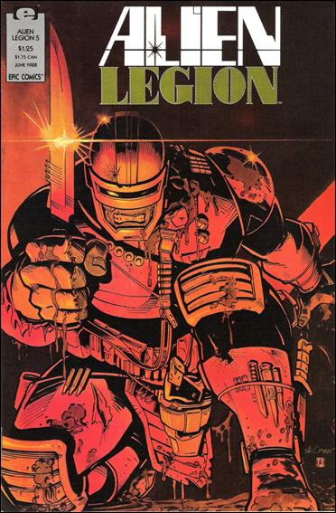 Alien Legion (1987) 5-A by Epic