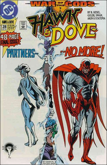 Hawk and Dove (1989) 28-A by DC