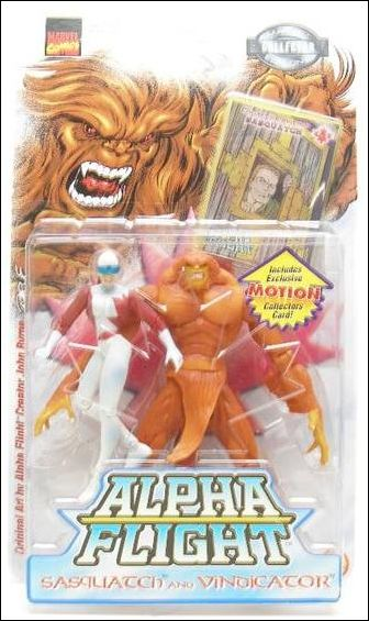Alpha Flight 2-Packs Sasquatch and Vindicator by Toy Biz