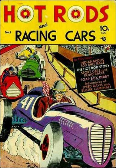 Hot Rods and Racing Cars 1-A by Charlton