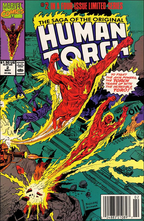 Saga of the Original Human Torch 2-A by Marvel