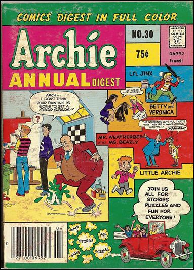 Archie Annual Digest Magazine 30-A by Archie
