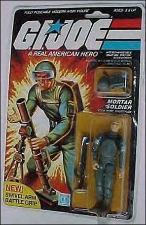 "G.I. Joe: A Real American Hero 3 3/4"" Basic Action Figures Short-Fuze (Mortar Soldier) - Swivel Arm"
