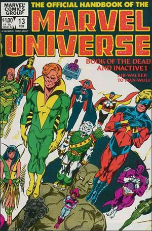 Official Handbook of the Marvel Universe (1983) 13-A