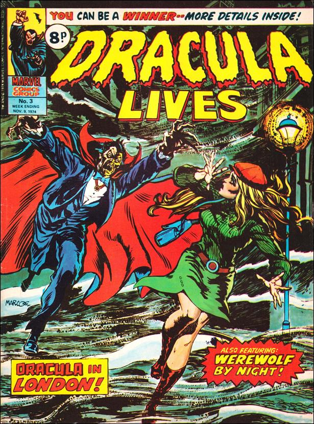 Dracula Lives (UK) 3-A by Marvel UK