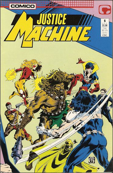 Justice Machine (1987) 6-A by Comico