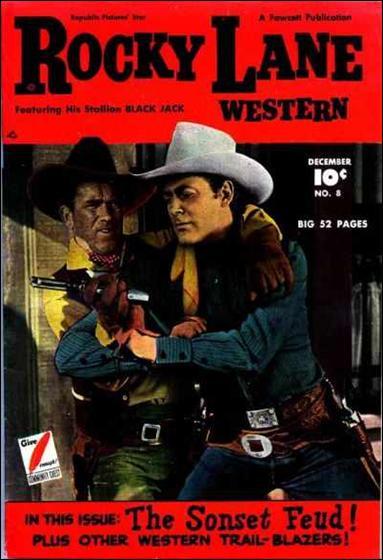 Rocky Lane Western (1949) 8-A by Fawcett