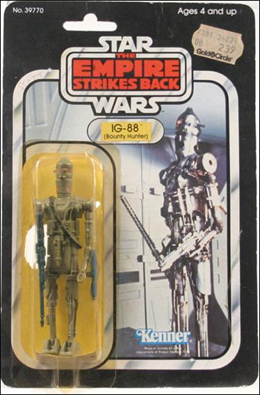 Star Wars 3 3/4&quot; Basic Action Figures (Vintage) IG-88 (Bounty Hunter) (ESB) by Kenner