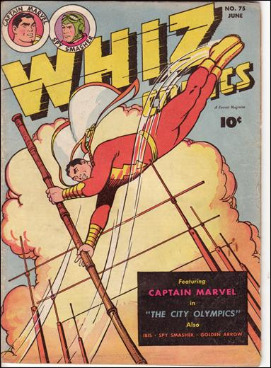 Whiz Comics 75-A by Fawcett