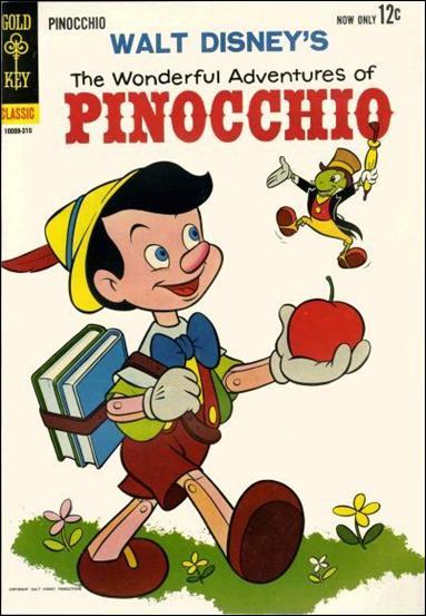 Walt Disney's The Wonderful Adventures of Pinocchio 1-A by Gold Key
