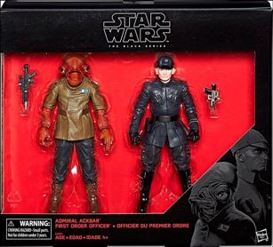 Star Wars: The Force Awakens: The Black Series (2-Packs) Admiral Ackbar and First Order Officer