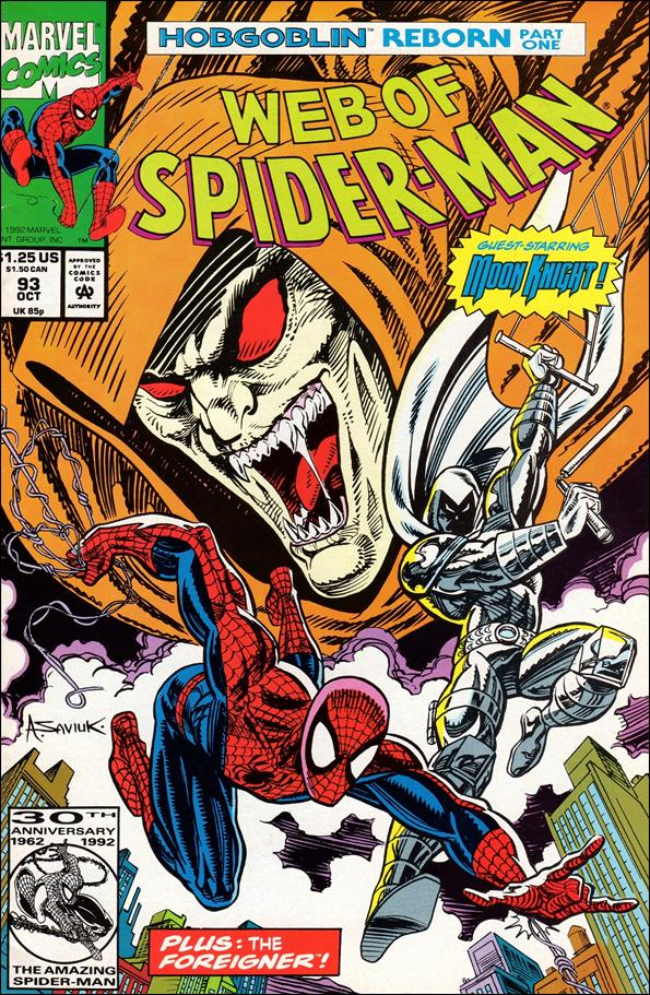 Web of Spider-Man (1985) 93-A by Marvel