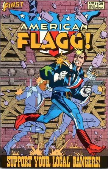 American Flagg! (1983) 28-A by First