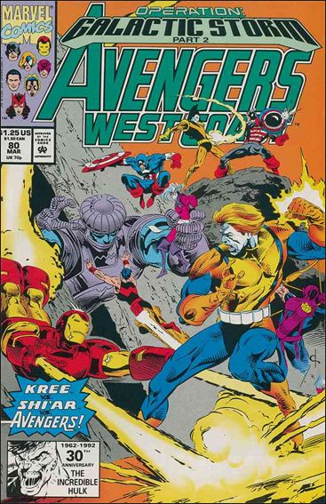 Avengers West Coast 80-A by Marvel