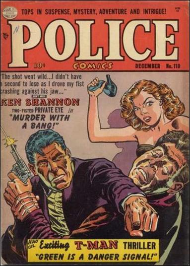 Police Comics 110-A by Comic Magazines