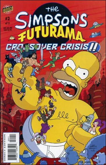 Simpsons Futurama Crossover Crisis II 2-A by Bongo