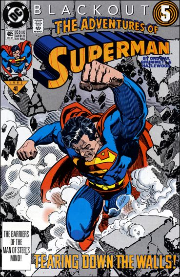 Adventures of Superman (1987) 485-A by DC