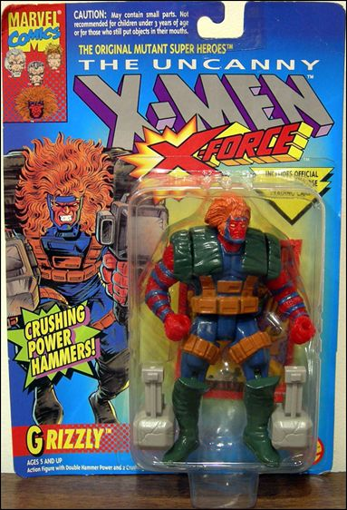 X-Men (X-Force) Grizzly by Toy Biz