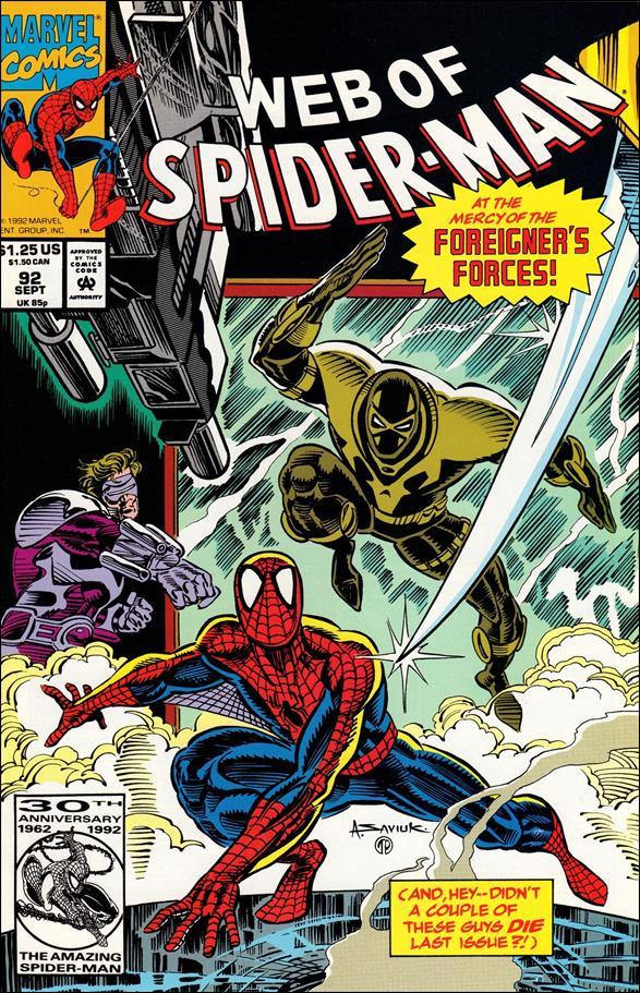 Web of Spider-Man (1985) 92-A by Marvel