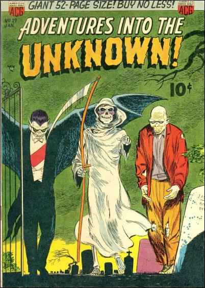 Adventures into the Unknown (1948) 27-A by American Comics Group (ACG)