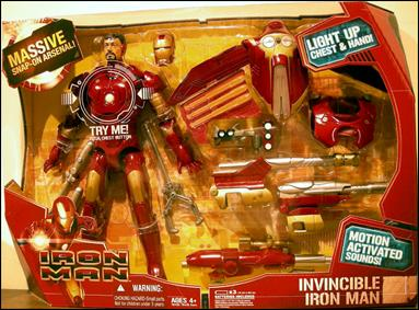 "Iron Man (Movie) 12"" Figures Invincible Iron Man by Hasbro"