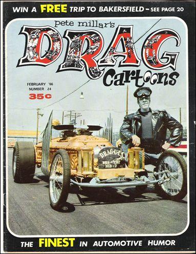 Drag Cartoons (1963) 24-A by Millar