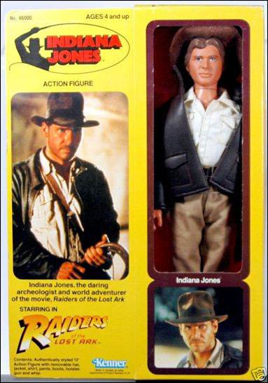"Indiana Jones (Raiders of the Lost Ark) 12"" Action Figure  Indiana Jones  by Kenner"