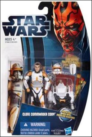 "Star Wars: The Clone Wars Collection 3 3/4"" Figures (2012) Clone Commander Cody"