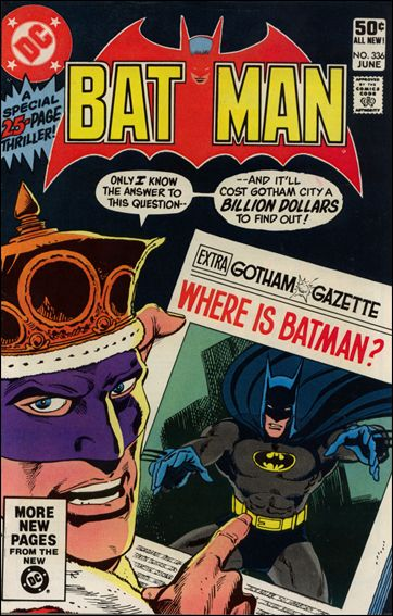 Batman (1940) 336-A by DC