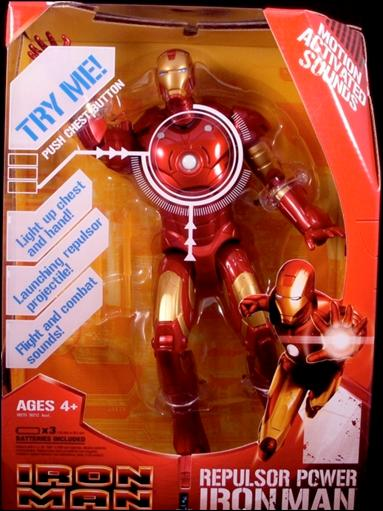 "Iron Man (Movie) 12"" Figures Repulsor Power Iron Man by Hasbro"