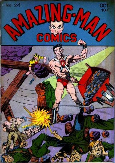 Amazing Man Comics 24-A by Centaur Publications Inc.