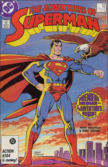 Adventures of Superman (1987) 424-A by DC
