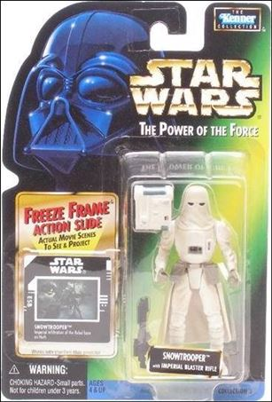 "Star Wars: The Power of the Force 2 3 3/4"" Basic Action Figures Snowtrooper (Sealt-Marie) w/ Freeze Frame"
