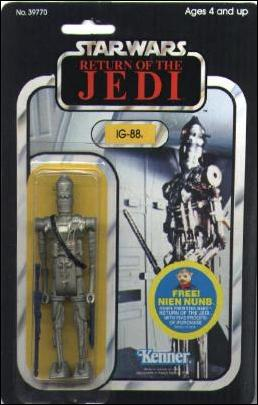 "Star Wars 3 3/4"" Basic Action Figures (Vintage) IG-88 (RotJ) by Kenner"