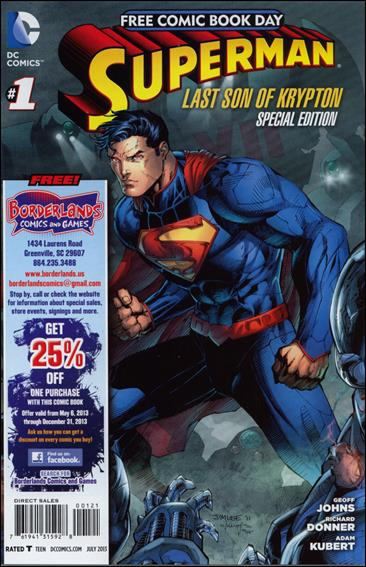 Superman: The Last Son of Krypton FCBD Special Edition 1-B by DC